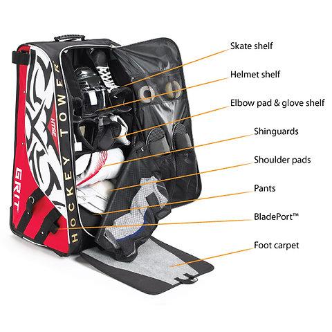 Grit Htse Hockey Tower 33in Wheeled Equipment Bag Cozzi Sports