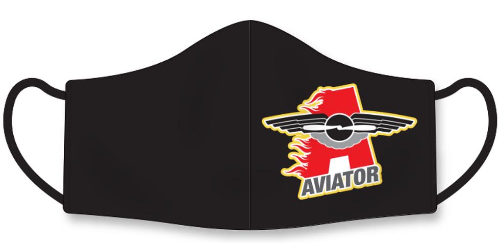 Aviator Face Mask Black