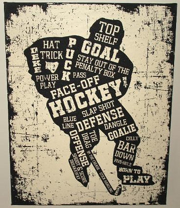Canvas Art- Hockey Player