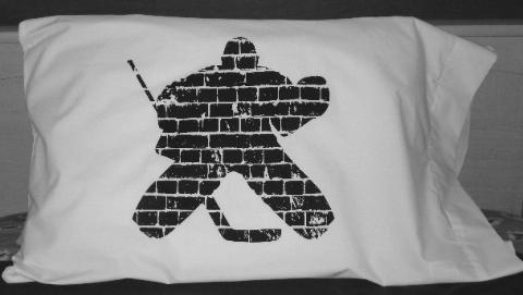 Brick Wall Goalie Pillowcase