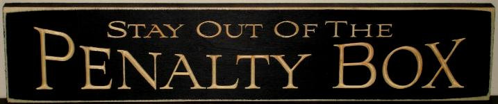 Penalty Box Sign