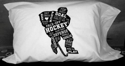 Hockey Player Pillowcase
