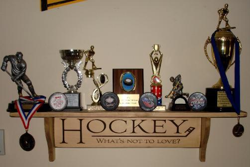 Hockey what's not to love? Shelf