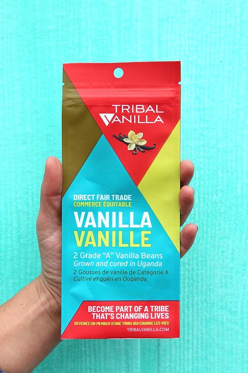 Grade A, Fair Trade Vanilla Beans - 2 pods per package