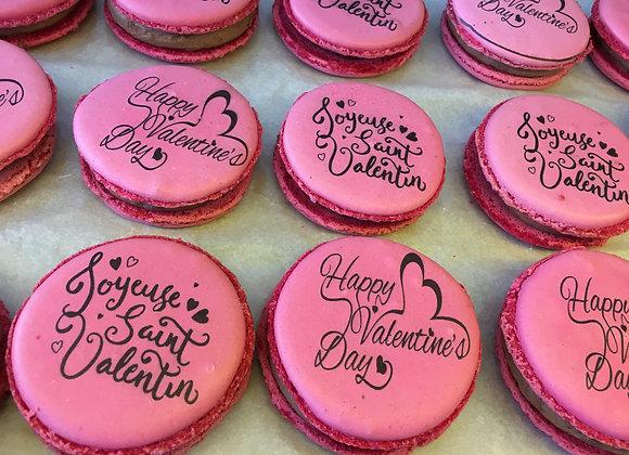 Gros Macarons de Saint Valentin
