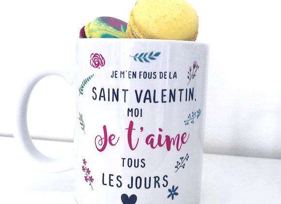 Mug5 saint valentin + macarons