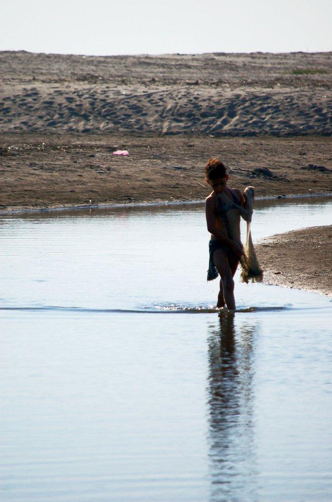 Girl Fishing, El Salvador