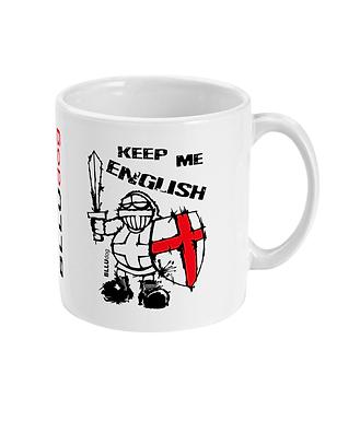 BLLUdog 'Keep Me English' Mug