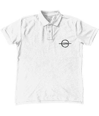 'S3PM' Embroidered Polo
