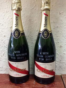 Champagne Engraving