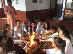 Opening ceremony Om Yoga Shala