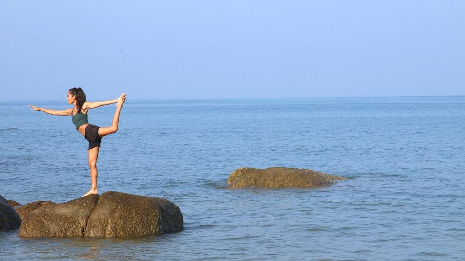 Yoga at Agonda beach goa