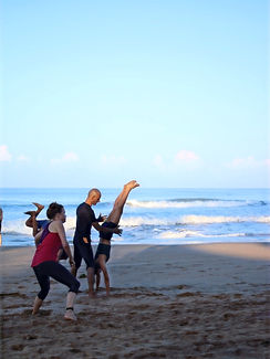 yoga practice on agondabeach goa november 2019