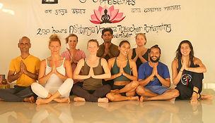 graduation ceremony yoga teahr training November 2019