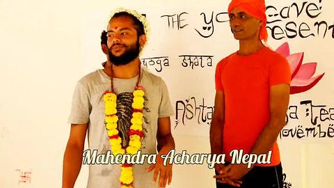 Mahendra Acharya  Ashtanga Yoga teacher training Agonda Goa