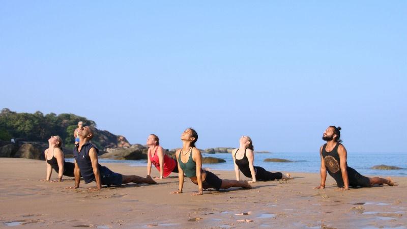 Yoga teacher training beach Goa