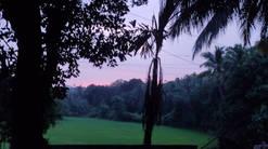 Sunset om yoga shala agonda