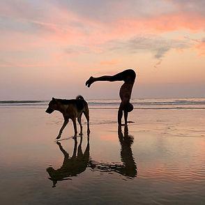 agonda beach goa hand stand