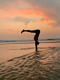 Agonda Beach Goa Yoga Practice