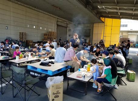 遠州紙工業様130人BBQ