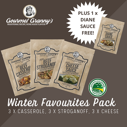 Winter Favourites Pack - 10 Sachet in total incl FREE Diane Sauce