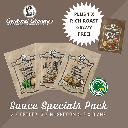 Sauce Specials Pack - 10 Sachet in total incl FREE Rich Roast Gravy