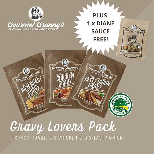 Gravy Lovers Pack - 10 Sachet in total incl FREE Diane Sauce