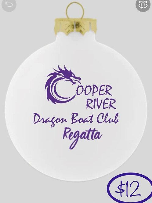 White Cooper River Dragon Boat Regatta Ornament