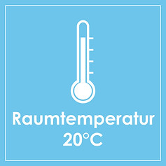 Temperaturrrange 15°C bis 25°C