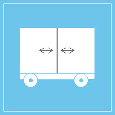Zwei Zonen mit beweglicher Trennwand