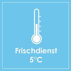 Temperaturrrange 2°C bis 8°C