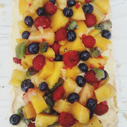 Tarte folle 🍊🥝🍍 #dessert #fruits #pât