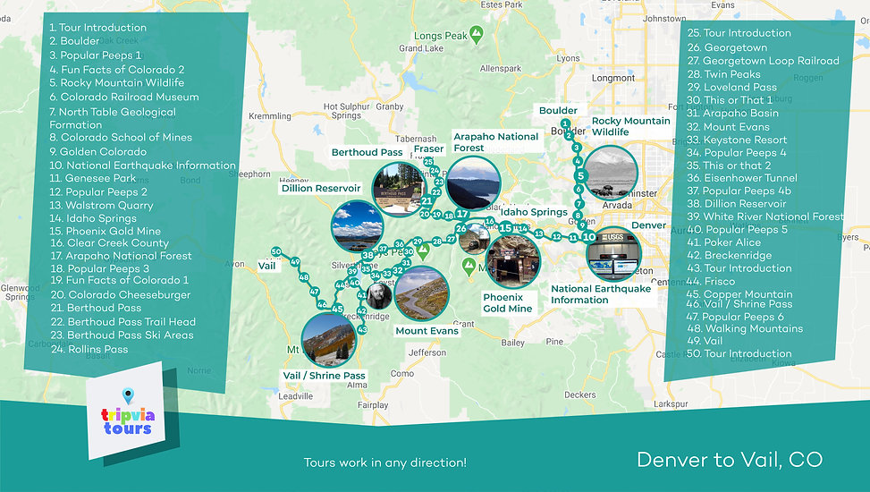 denver to vail colorado driving tour