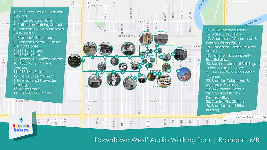 brandon manitoba self guided audio walking tour