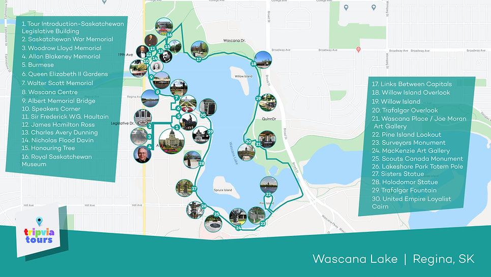 wascana lake audio walking tour
