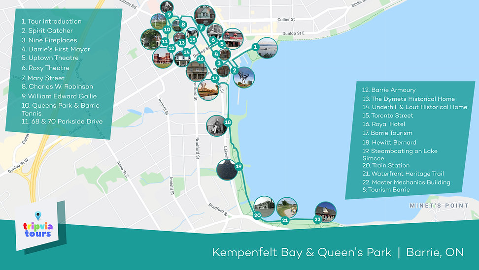 barrie kempenfelt bay walking tour