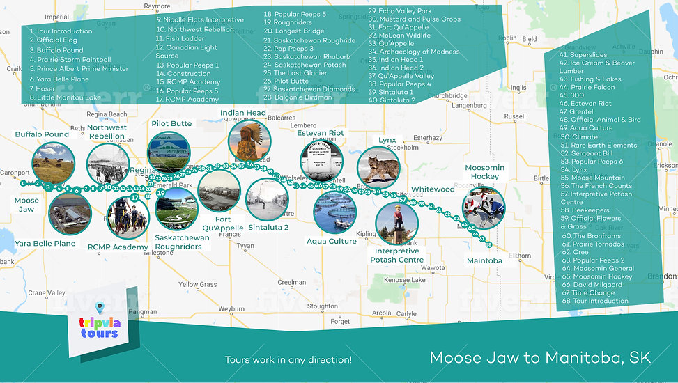 moose jaw to manitoba audio driving tour