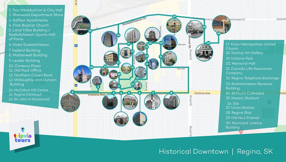 downtown audio walking tour regina