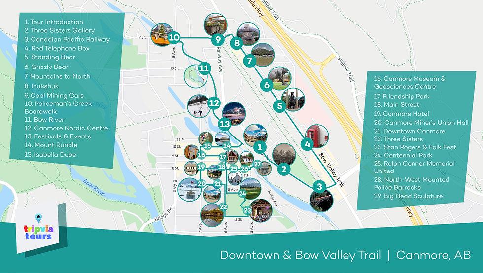 canmore audio walking tour map alberta