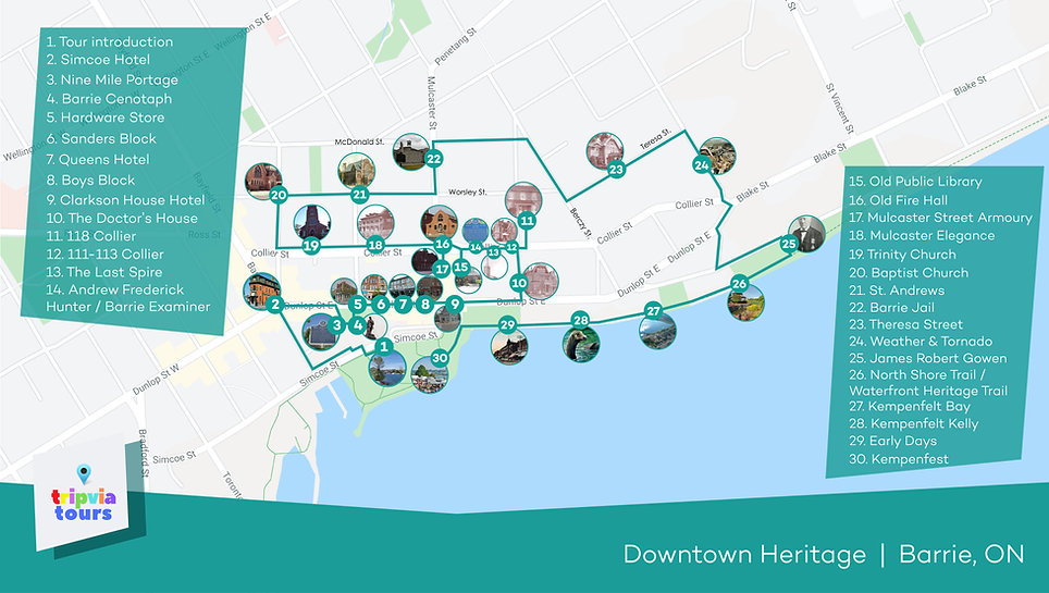 downtown walking tour barrie