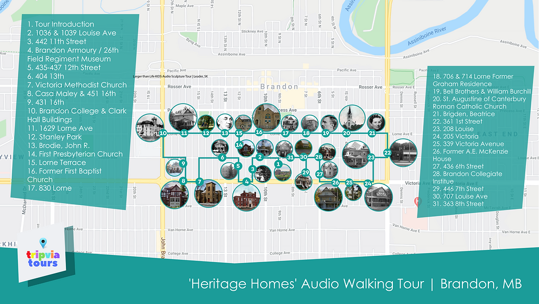 self guided audio walking tour brandon manitoba