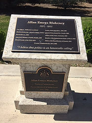 allan blakeney memorial wascana regina