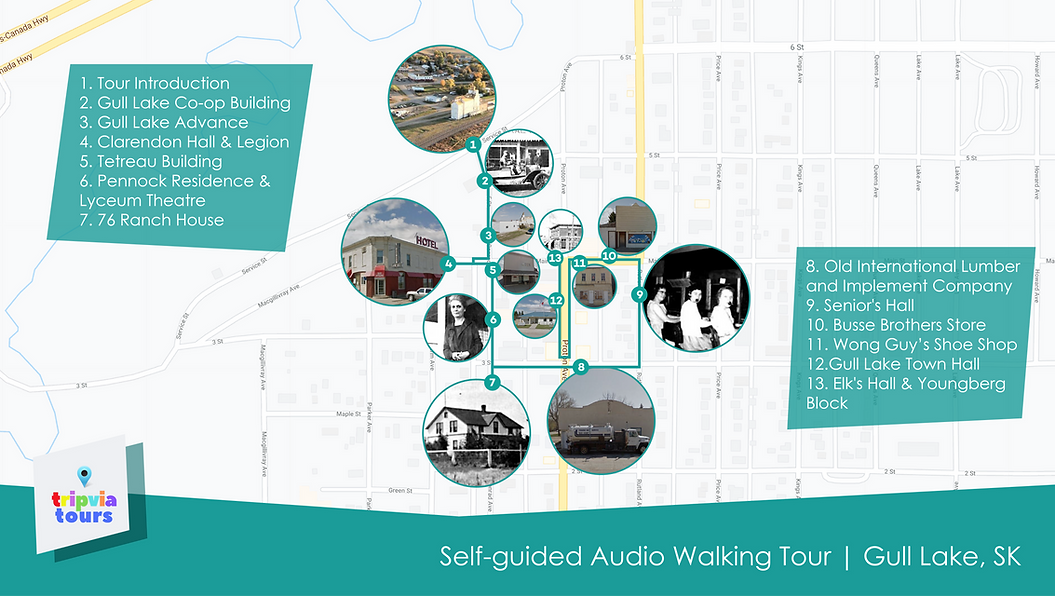 walking tour gull lake saskatchewan