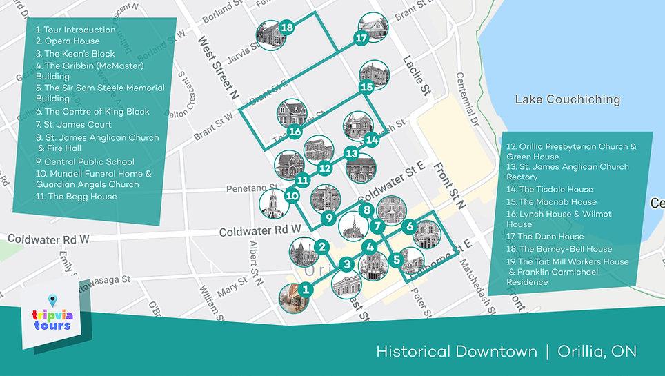 downtown walking tour orillia ontario