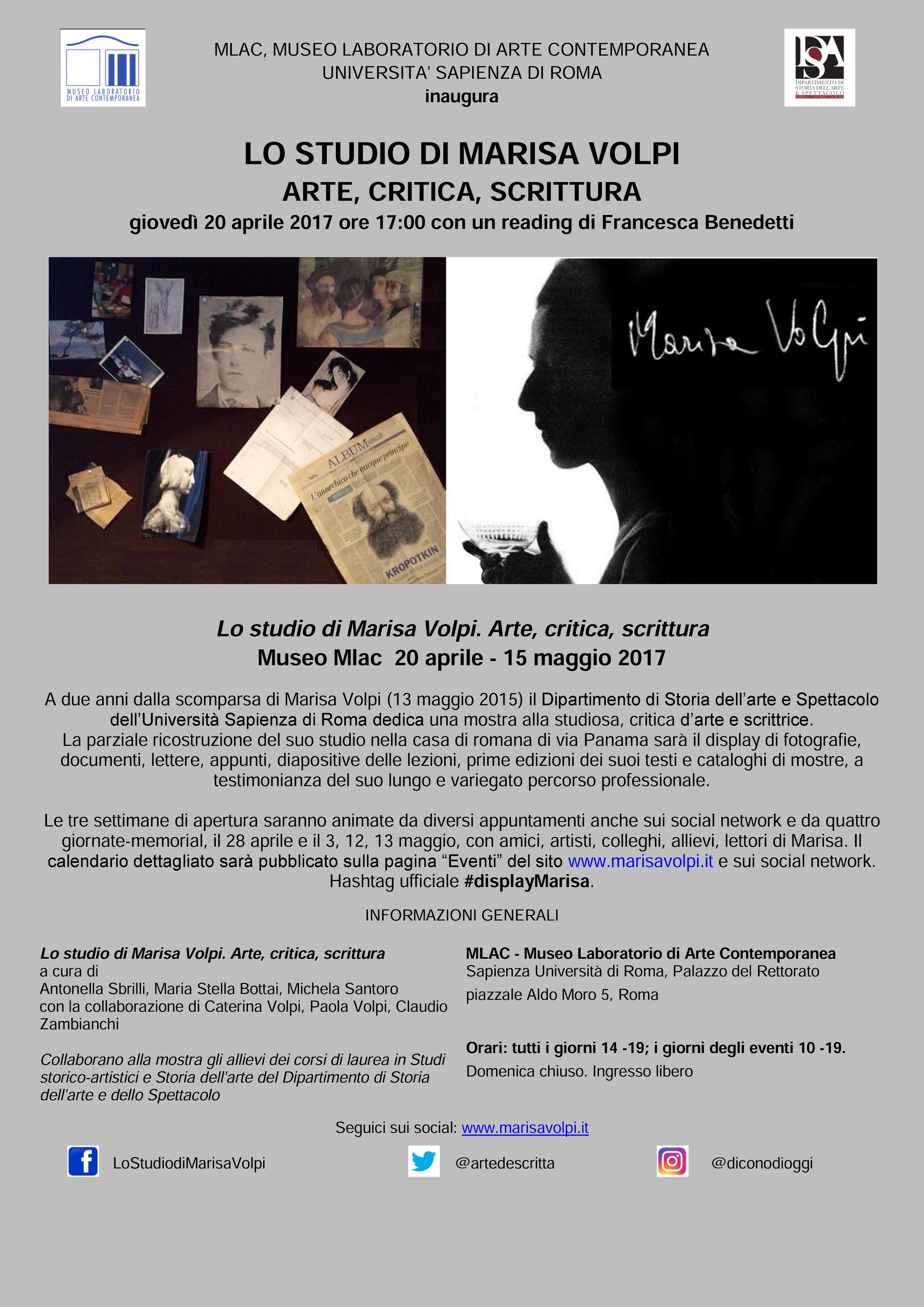 Lo studio di Marisa Volpi Mlac