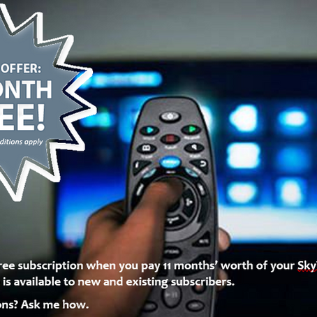 SkyTV 1 Month FREE Subscription