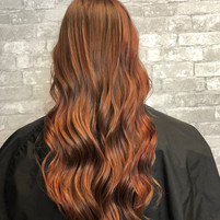 Red with copper highlights
