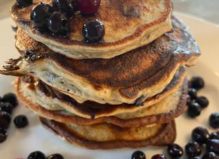 "Best (grain free) Blueberry, ""buckwheat"" Banana Pancake"