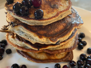 "Best (grain free) Blueberry, ""buckwheat"" Banana Pancake"