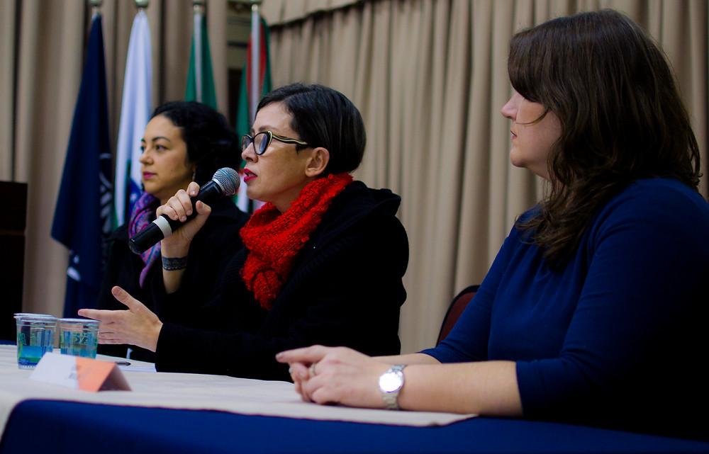 Da esquerda para direita: Kelly Prudencio, Máira Nunes e Edna Miola / Foto: Ponto Zero